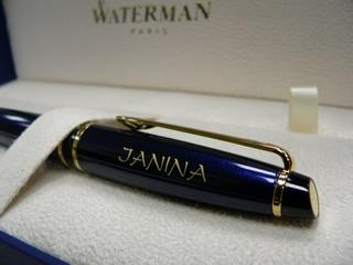 Luxusní pero Waterman s gravírováním